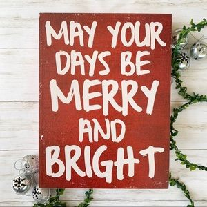 Merry and Bright Wall Sign